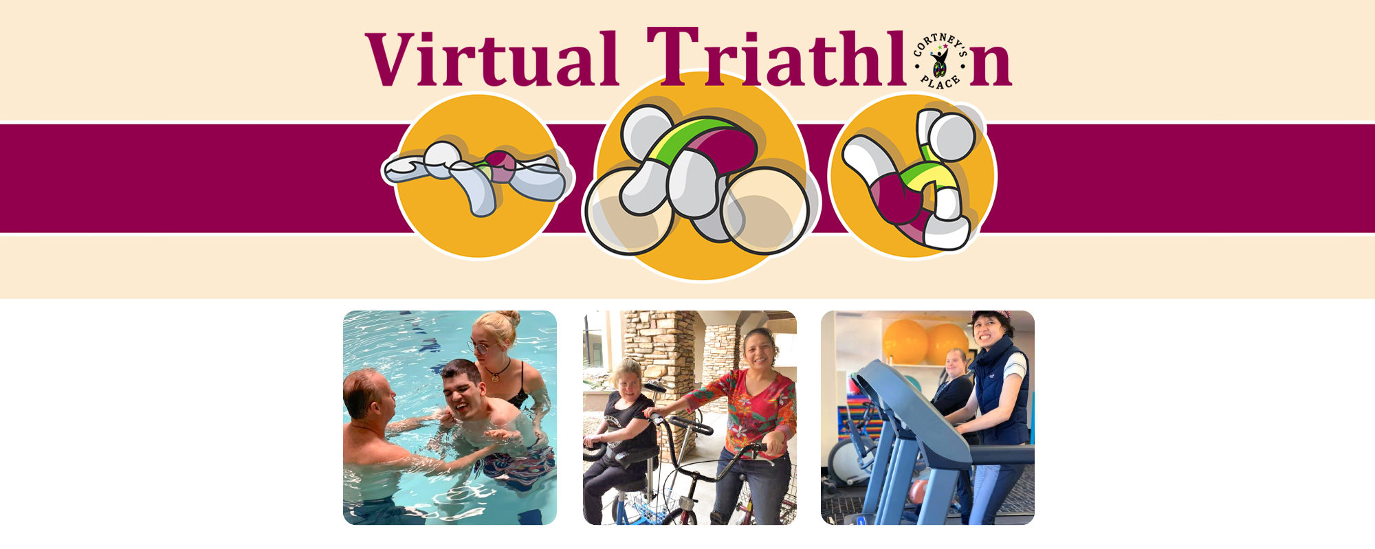 Virtual Triathlon programs for disabled adults